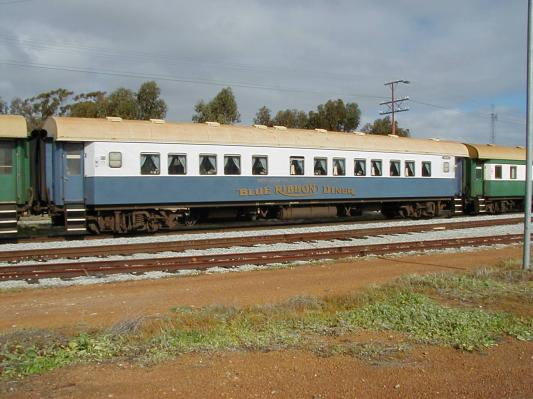 "AHF class  First Class Car Converted to Dining Car ""Blue Ribbon Diner""             ©Photo By Stuart Jackson"